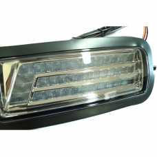 Front lights (headlights) with DRL for Lada Niva BLACK