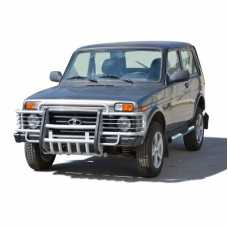"""Protection front with motor protection """"Toothed"""" 2121 21214 NIVA URBAN 4X4"""