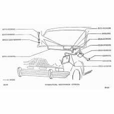 LADA NIVA 1600, 1700, 2101-2107, Wascher hose with nozzles, + 2 seals