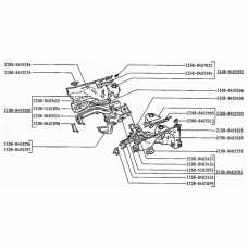 LADA 2108 - 2115 Reinforcement for side member front, right