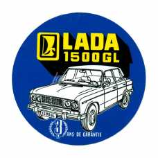 "LADA 2106 ""3 Years Rust-Free Guarantee"" Avtoexport French Dealership Sticker"