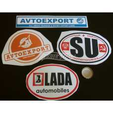 LADA Avtoexport Dealership Stickers Decals Soviet USSR