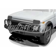 Power Front Bumper with Winch Platform and Protection Grilles LADA 2121 NIVA 4x4